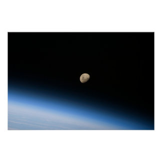Gibbous Moon from Orbit Print