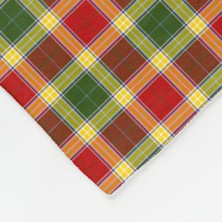 Gibbs Clan Red, Yellow and Green Tartan Fleece Blanket