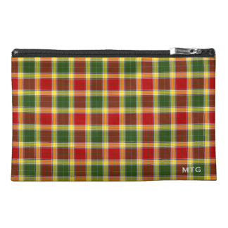 Gibbs Clan Tartan Monogram Travel Accessory Bags