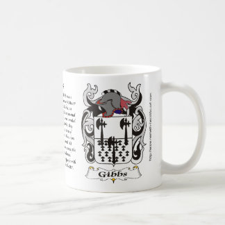 Gibbs Family Coat of Arms mug