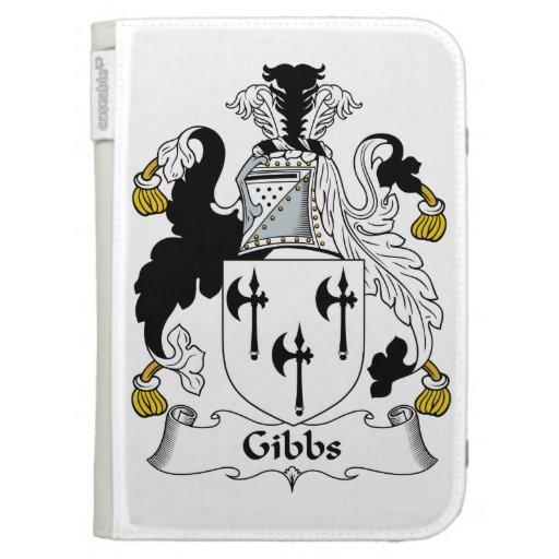 Gibbs Family Crest Kindle Folio Cases
