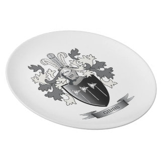 Gibbs Family Crest Coat of Arms Plate