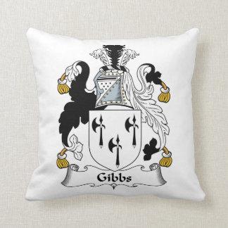 Gibbs Family Crest Throw Pillows