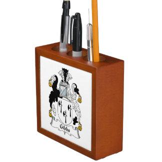 Gibbs Family Crest Pencil Holder