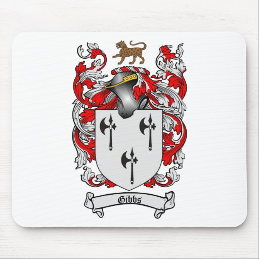 GIBBS FAMILY CREST -  GIBBS COAT OF ARMS MOUSE MATS