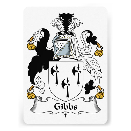 Gibbs Family Crest Personalized Invite