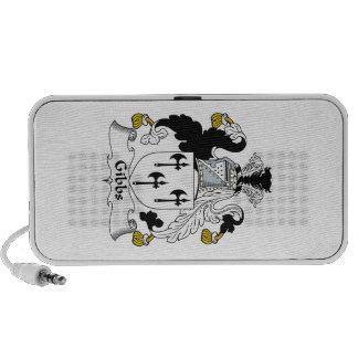 Gibbs Family Crest iPod Speakers