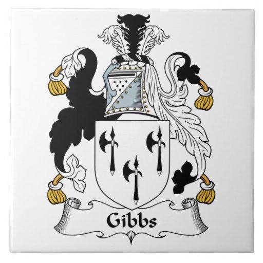 Gibbs Family Crest Ceramic Tile
