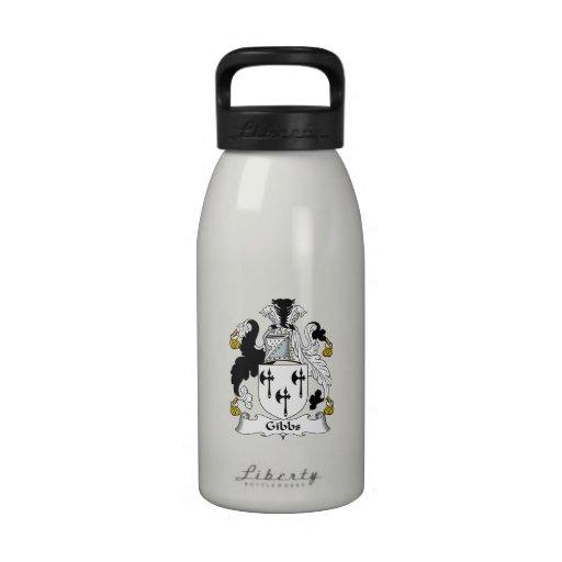 Gibbs Family Crest Water Bottles