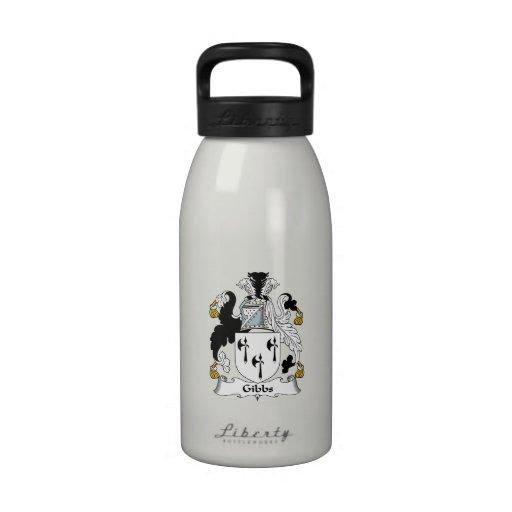 Gibbs Family Crest Reusable Water Bottle