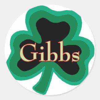 Gibbs Family Round Sticker