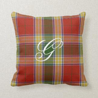 Gibbs/Gibson Tartan Monogram Pillow Throw Cushion