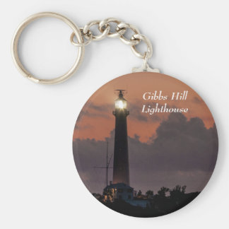 Gibbs Hill Lighthouse at Sunset Keychain