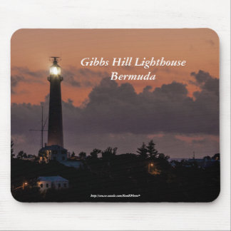Gibbs Hill Lighthouse at Sunset Mousepad