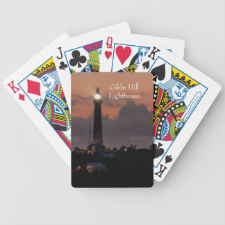 Gibbs Hill Lighthouse at Sunset Playing Cards