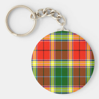 Gibbs Scottish Tartan Basic Round Button Key Ring