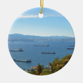 Gibraltar Anchorage From Above Christmas Ornament