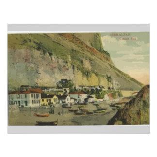 Gibraltar Citslan Bay, Vintage 21.5 Cm X 28 Cm Flyer