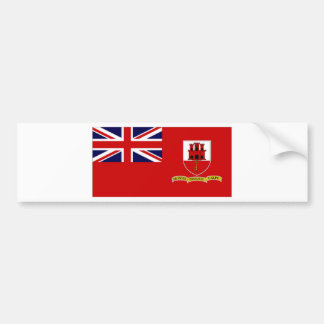 Gibraltar Civil Ensign Bumper Sticker