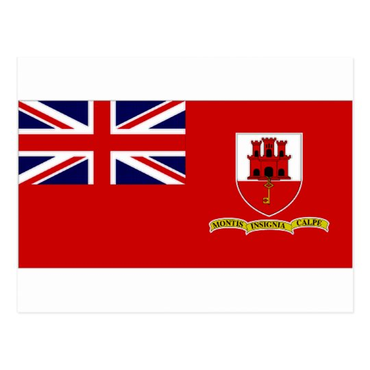 Gibraltar Civil Ensign Postcard