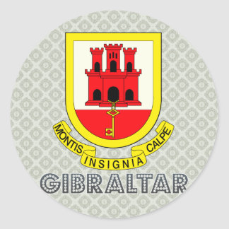 Gibraltar Coat of Arms Classic Round Sticker