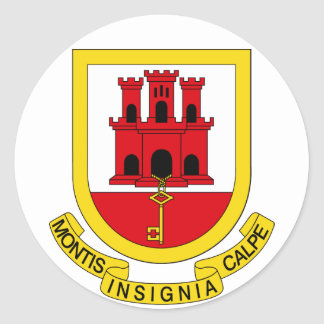 Gibraltar Coat of arms GI Classic Round Sticker