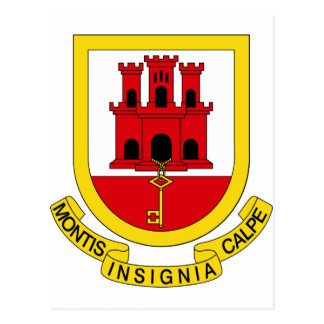 Gibraltar Coat of arms GI Postcard