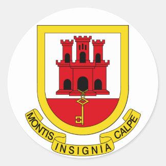 Gibraltar Coat of arms GI Round Sticker