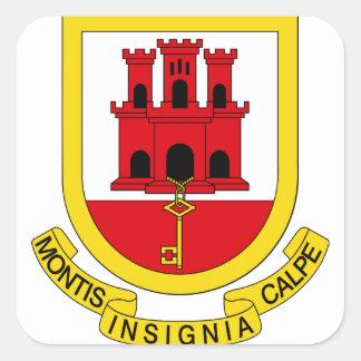 Gibraltar Coat of arms GI Square Sticker