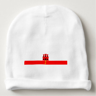 Gibraltar country long flag nation symbol republic baby beanie