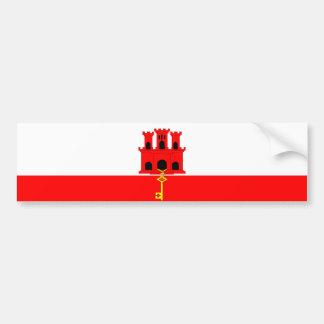 Gibraltar country long flag nation symbol republic bumper sticker