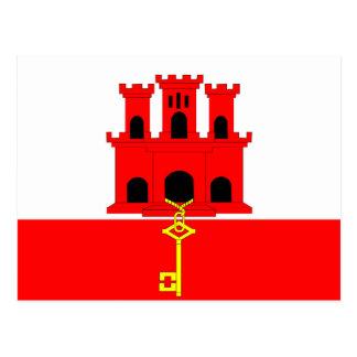 Gibraltar country long flag nation symbol republic postcard