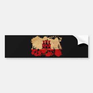 Gibraltar Flag Bumper Sticker