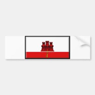 Gibraltar Flag Bumper Sticker