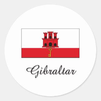 Gibraltar Flag Design Round Sticker