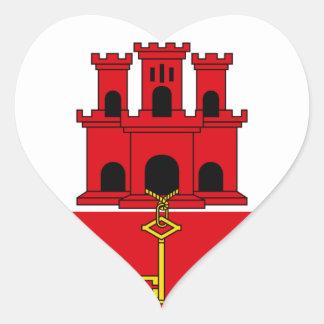 Gibraltar Flag  GI Heart Sticker