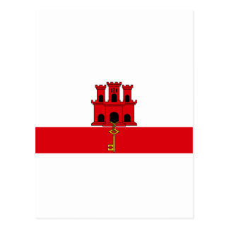 Gibraltar Flag  GI Postcard