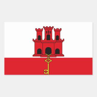 Gibraltar Flag  GI Rectangular Sticker