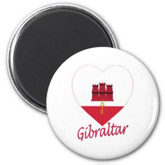 Gibraltar Flag Heart Fridge Magnet
