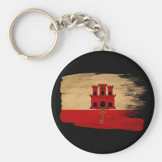 Gibraltar Flag Key Ring