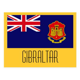 Gibraltar flag postcard