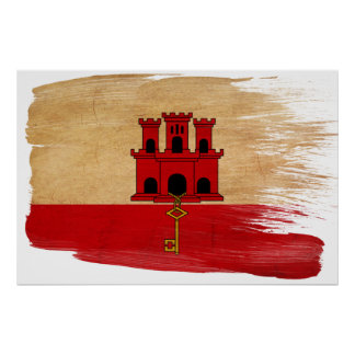 Gibraltar Flag Posters