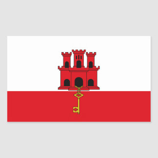 Gibraltar Flag Rectangular Sticker