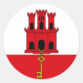 Gibraltar Flag Round Sticker