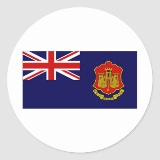 Gibraltar Government Ensign Classic Round Sticker
