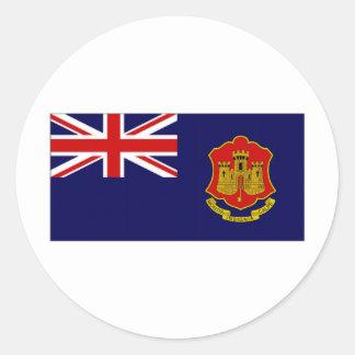 Gibraltar Government Ensign Round Sticker