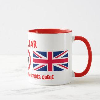 Gibraltar I Survived The Spanish Border Queue Mug