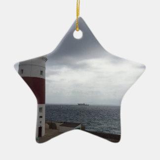 Gibraltar Lighthouse Christmas Ornament