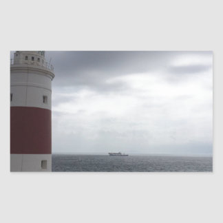 Gibraltar Lighthouse Rectangular Sticker