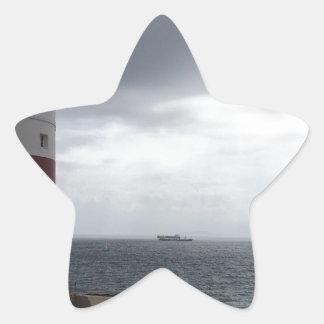 Gibraltar Lighthouse Star Sticker
